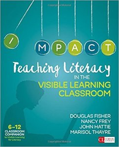 book cover teaching literacy 6-12